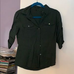 Theory S button up Green